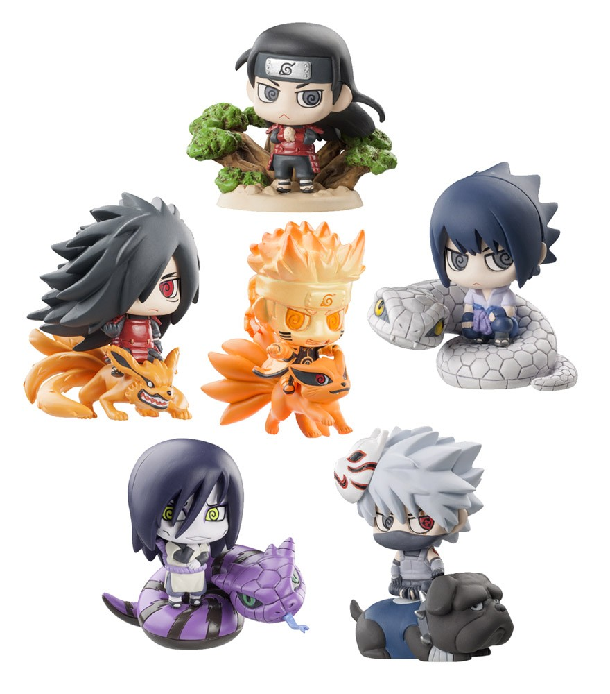 Naruto Shippuden Petit Chara Land Ninja Wars trading figures 6 cm