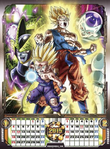 DRAGON BALL Z KAI CALENDRIER MURAL 2015